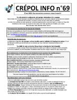 Crépol info 69 du 20 avril 2020
