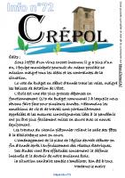Crépol Infos 72 de Mai 2021