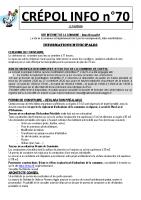 Crépol infos 70 du 15 octobre